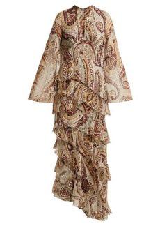 Etro Vega tiered silk-blend dress