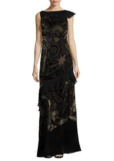 Etro Velvet Backless Paisley Gown