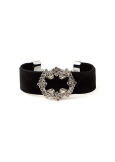 Etro Velvet crystal-encrusted bracelet