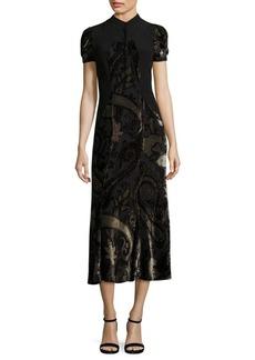 Etro Velvet Paisley-Print Dress