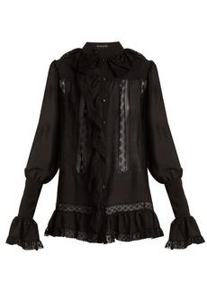 Etro Versaille ruffle-trimmed silk-voile blouse