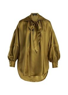 Etro Versailles tie-neck silk blouse