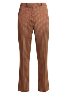 Etro Violante floral-jacquard cropped trousers