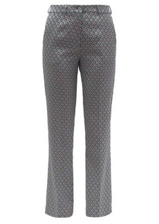 Etro Violante floral-jacquard trousers