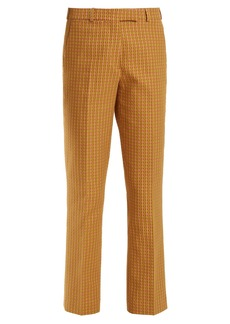 Etro Violante geometric-pattern stretch-cotton trousers
