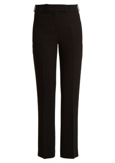 Etro Violante straight-leg cropped crepe-cady trousers