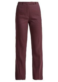 Etro Violante straight-leg jacquard trousers