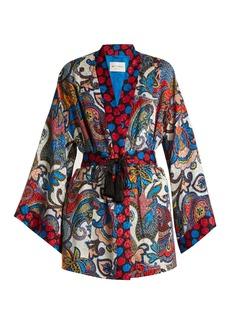 Etro Waist-tie paisley-jacquard silk kimono