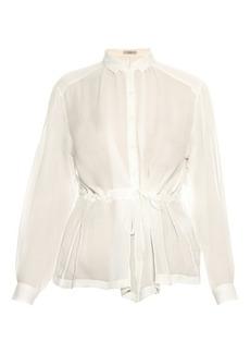 Etro Waist-tie silk-chiffon shirt