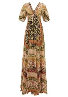 Etro West Midlands floral-print silk gown