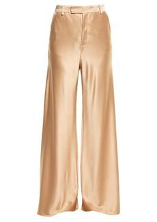 Etro Wide-leg satin trousers