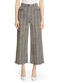 Etro Wide Leg Tweed Pants