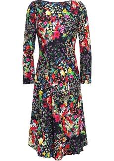 Etro Woman Asymmetric Floral-print Crepe Dress Black
