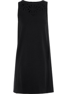 Etro Woman Broderie Anglaise Stretch-crepe Mini Dress Black