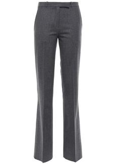Etro Woman Brushed Wool-blend Twill Bootcut Pants Dark Gray