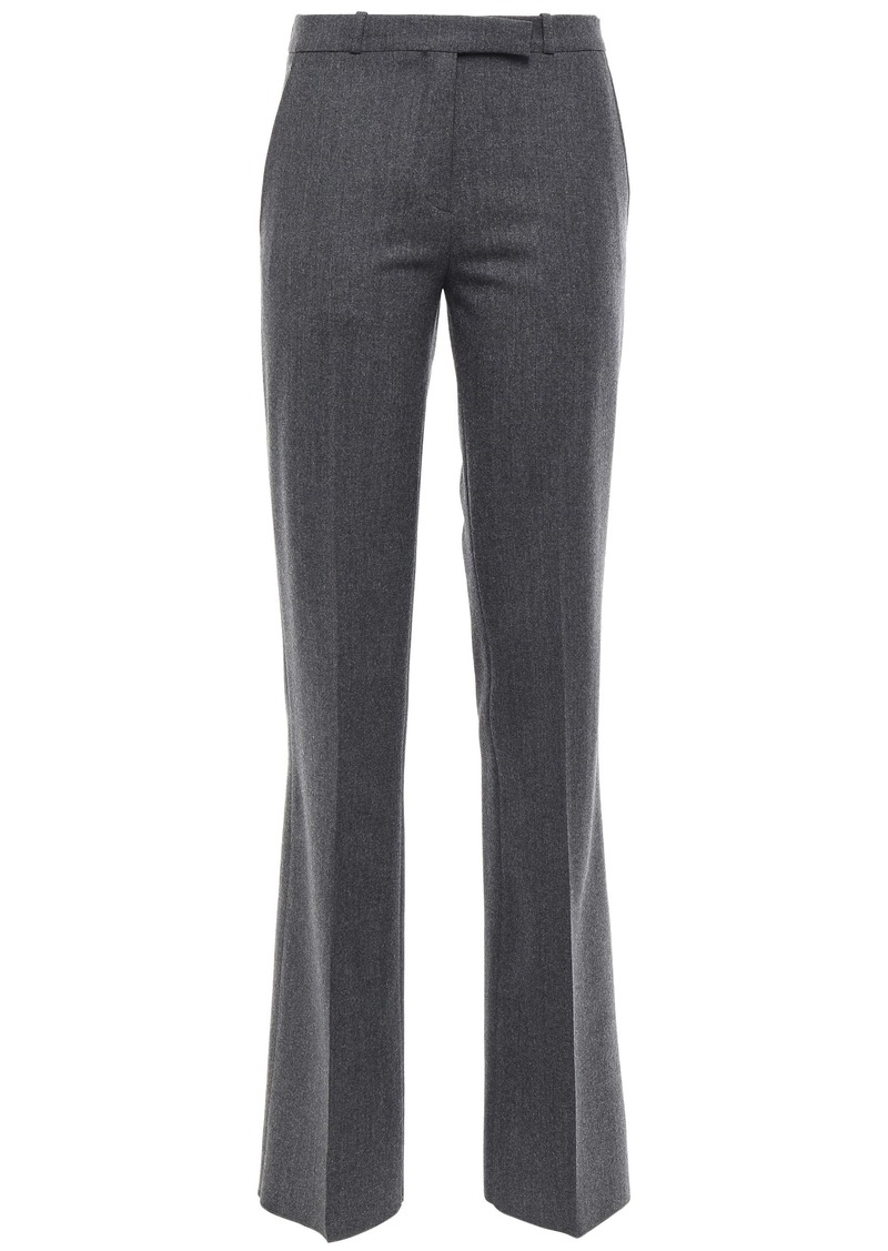 Etro Woman Brushed Wool-blend Twill Bootcut Pants Dark Gray
