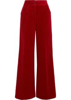 Etro Woman Cotton-corduroy Wide-leg Pants Red