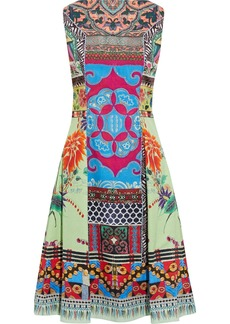 Etro Woman Flared Printed Cotton-blend Broadcloth Dress Multicolor