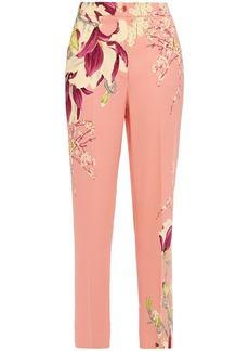 Etro Woman Floral-print Crepe Slim-leg Pants Antique Rose
