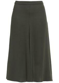 Etro Woman Georgette Midi Skirt Leaf Green