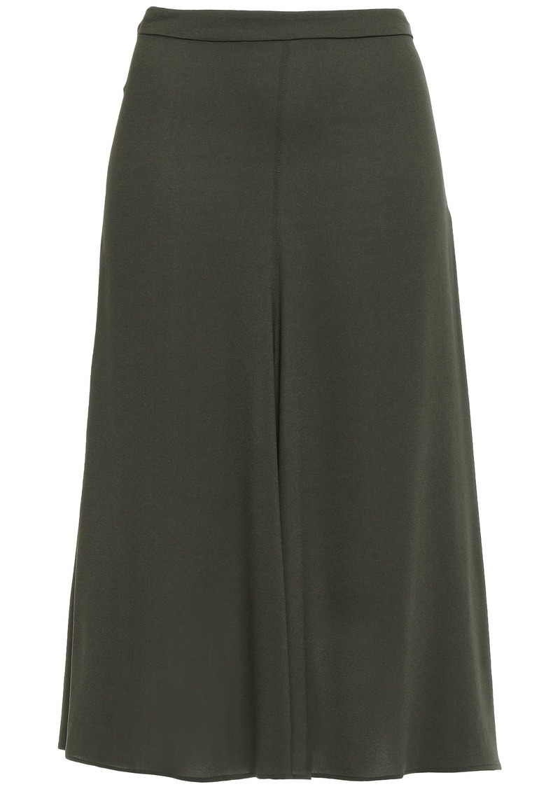Etro Woman Georgette Midi Skirt Leaf Green