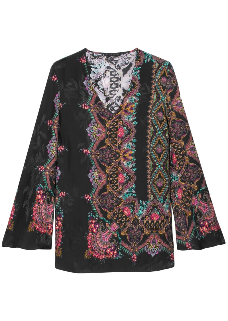 Etro Woman Jacquard Blouse Black