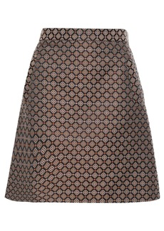 Etro Woman Jacquard Mini Skirt Black