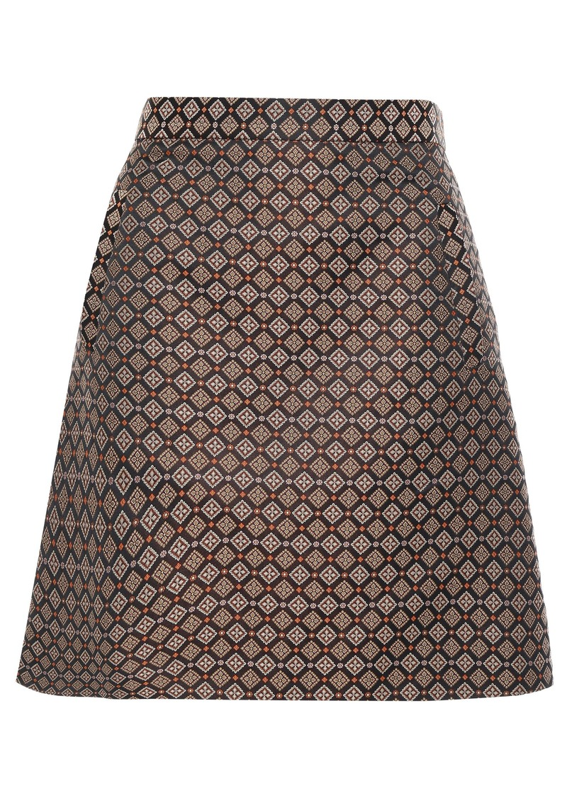 Etro Woman Jacquard Mini Skirt Black