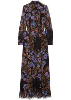 Etro Woman Lace-paneled Floral-print Silk-georgette Shirt And Dress Set Black