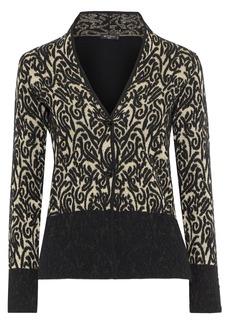 Etro Woman Paneled Metallic Wool-blend Jacquard Cardigan Multicolor
