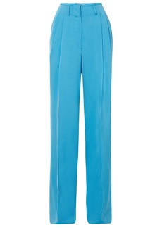 Etro Woman Satin-crepe Wide-leg Pants Light Blue