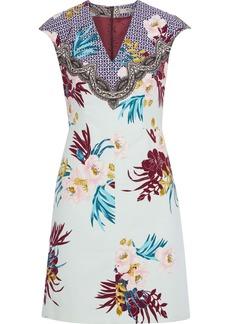 Etro Woman Printed Cotton Dress Sky Blue