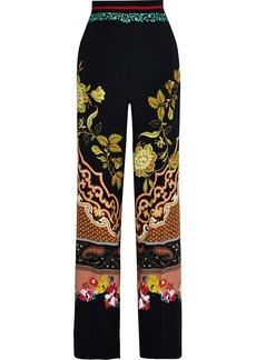 Etro Woman Printed Crepe Wide-leg Pants Multicolor