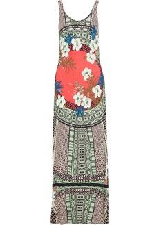 Etro Woman Printed Jersey Maxi Dress Multicolor