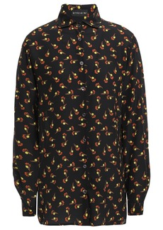 Etro Woman Printed Silk Crepe De Chine Shirt Black