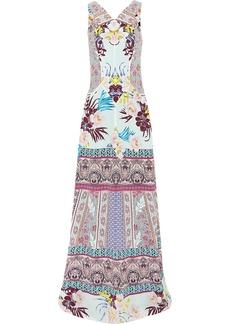 Etro Woman Printed Silk-crepe Maxi Dress Pink