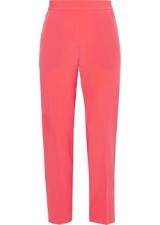 Etro Woman Silk Crepe De Chine Slim-leg Pants Papaya