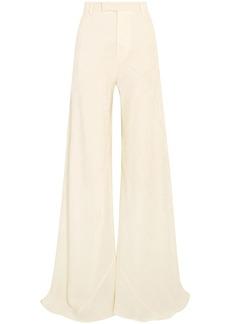Etro Woman Silk-jacquard Wide-leg Pants Ivory