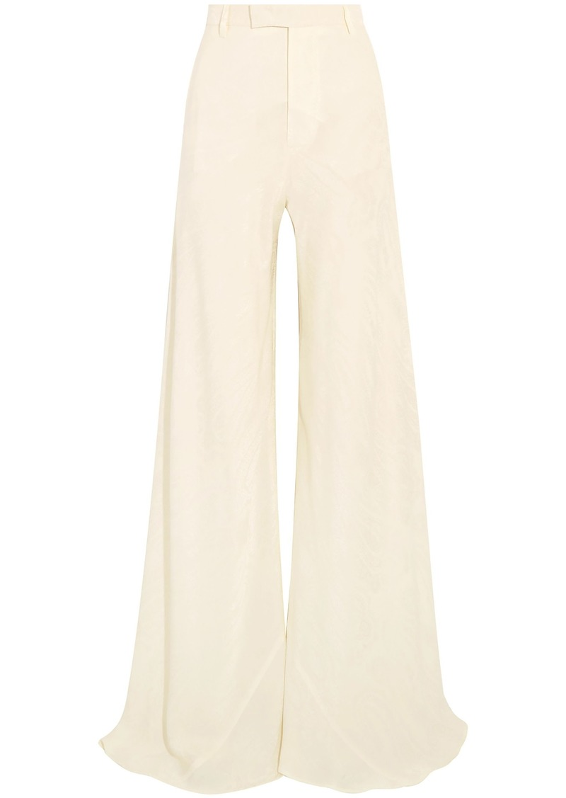 Etro Woman Silk-jacquard Wide-leg Pants Ivory
