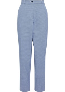 Etro Woman Stretch-cotton Jacquard Slim-leg Pants Light Blue