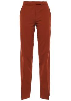 Etro Woman Striped Wool-blend Straight-leg Pants Brown