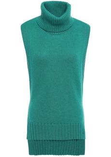 Etro Woman Tie-back Knitted Turtleneck Vest Jade