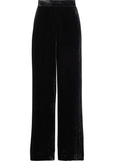 Etro Woman Velvet Wide-leg Pants Black
