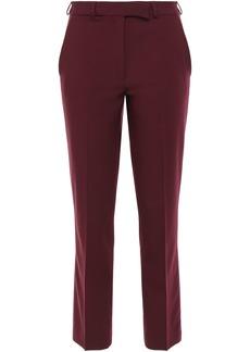 Etro Woman Wool-blend Crepe Slim-leg Pants Burgundy