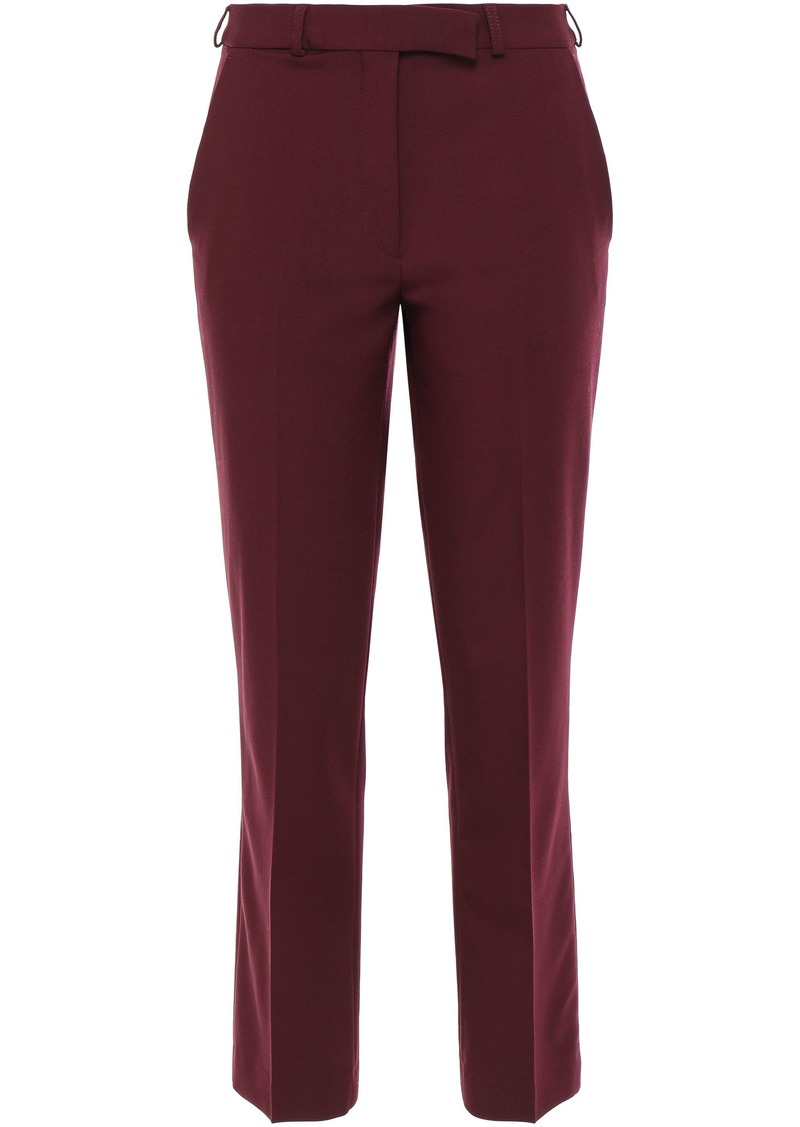 Etro Woman Wool-blend Crepe Slim-leg Pants Burgundy
