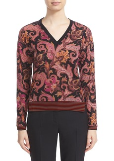 Etro Wool Blend V-Neck Top