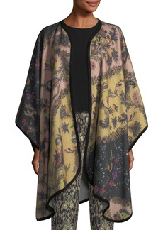 Etro Wool-Cashmere Printed Cape