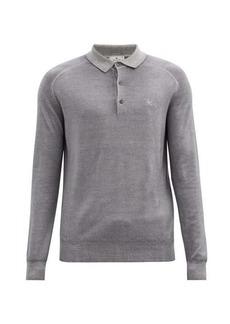 Etro Wool long-sleeved polo shirt
