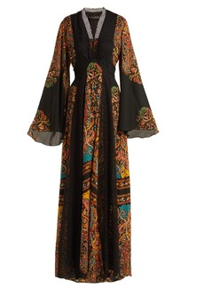 Etro Zoist printed silk-chiffon maxi dress