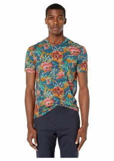 Etro Faded Printed Crew Neck T-Shirt